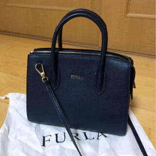 Furla - FURLA フルラ ハンドバッグ ショルダーバッグ ネイビー