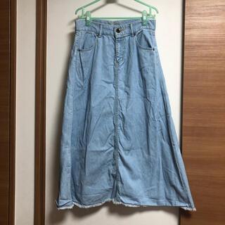 RODEO CROWNS - ロデオ☆デニム切りっぱなしロングスカート