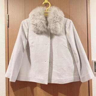 ジャスグリッティー(JUSGLITTY)の新品 ジャスグリッティ コート ライトグレー ショートコート(毛皮/ファーコート)