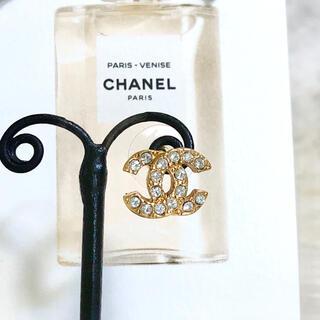 シャネル(CHANEL)の正規品 シャネル ピアス 片方 ゴールド ラインストーン 金 ココマーク 石 (ピアス)