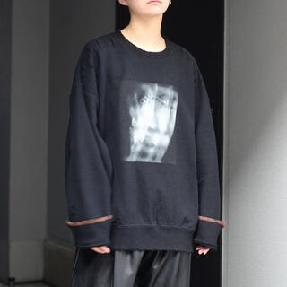 SUNSEA - stein Oversized Rebuild Sweat LS ブラック M