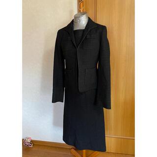 インディヴィ(INDIVI)の美品 インディヴィ セットアップ スーツ ツイードジャケット&ワンピース(セット/コーデ)