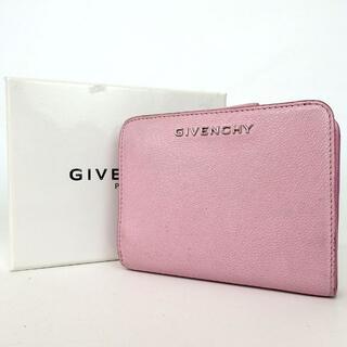 GIVENCHY - GIVENCHY ジバンシィ ロゴ金具 二つ折り財布 レザー 32-45