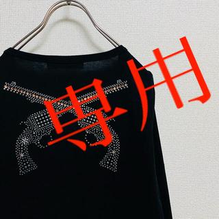 ロアー(roar)の一点物 美品 セット割あり ロアー:roar クロスガン スワロフスキー ロンT(Tシャツ/カットソー(七分/長袖))