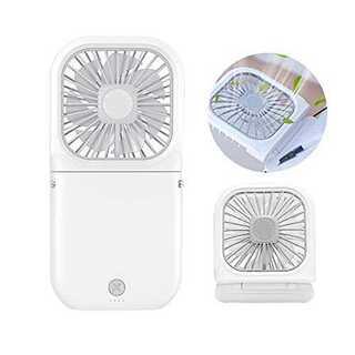 白【2020年NEWモデル】 Almonday 携帯扇風機 手持ち扇風機 卓上扇(扇風機)