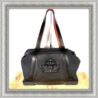 クリスチャンルブタン(Christian Louboutin)のクリスチャンルブタン バッグデイモン ボストン レザー キャンバス 黒 ブラック(ボストンバッグ)