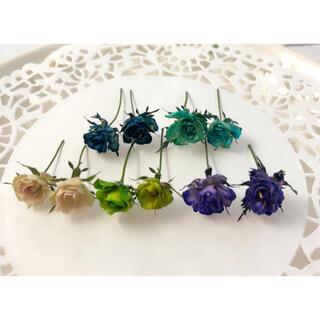 ドライフラワー 花材 素材 極小ミニバラ リトルウッズ 染め(各種パーツ)