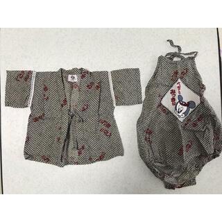 ミッキーマウス ベビー用 甚平  70cm(甚平/浴衣)