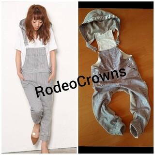 ロデオクラウンズ(RODEO CROWNS)のRodeoCrowns★ヒッコリー×スウェットサロペット(サロペット/オーバーオール)