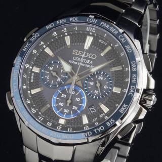 セイコー(SEIKO)の【最上級モデル】 セイコー 新品 メンズ腕時計 クロノグラフ 電波ソーラー(腕時計(アナログ))
