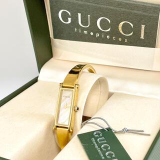 Gucci - グッチ時計 レディース腕時計 1500 ホワイトシェル ゴールド