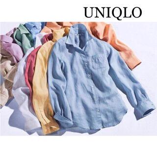 UNIQLO - ユニクロ プレミアムリネンシャツ S