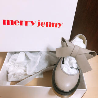 メリージェニー(merry jenny)のPUリボンラバーシューズ(ローファー/革靴)