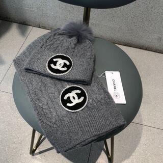 CHANEL - メンズ用 CHANEL帽子、マフラー2点セット