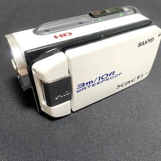 サンヨー(SANYO)のSANYO ハイビジョン 防水デジタルムービーカメラ DMX-WH1 ホワイト (ビデオカメラ)