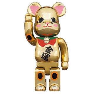メディコムトイ(MEDICOM TOY)のBE@RBRICK 招き猫 金運 金メッキ 弐 400% ベアブリック(その他)