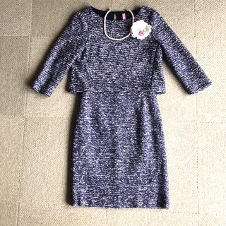 ANAYI - ANAYI アナイ フォーマル  スーツ セットアップ ネイビー 紺 ツーピース