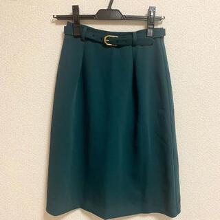 サリア(salire)の美品☆salire ベルト付 タイトスカート(ひざ丈スカート)