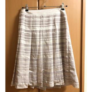 クミキョク(kumikyoku(組曲))のシアーボーダー プリーツスカート(ひざ丈スカート)