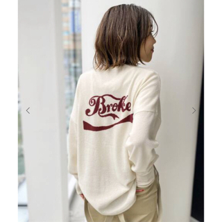 L'Appartement DEUXIEME CLASSE - GOOD GRIEF Cashmere Logo Knit Pullover