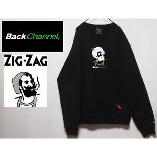 Back Channel - 690 Back Channel ZIG ZAG XL スウェット ブラック