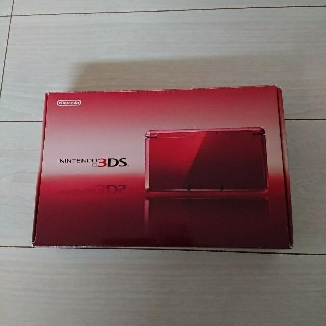 ニンテンドー3DS(ニンテンドー3DS)の超美品!Nintendo 3DS 本体 フレアレッド  完備!動作OK♪ エンタメ/ホビーのゲームソフト/ゲーム機本体(携帯用ゲーム機本体)の商品写真