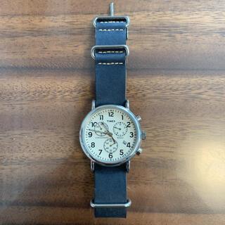 タイメックス(TIMEX)のTIMEX クロノグラフ TW2P621 レザー 腕時計(腕時計(アナログ))
