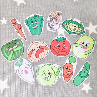 《カラーコピー素材》やさいのうた保育教材大人気12枚知育玩具手遊び食育保育園(知育玩具)