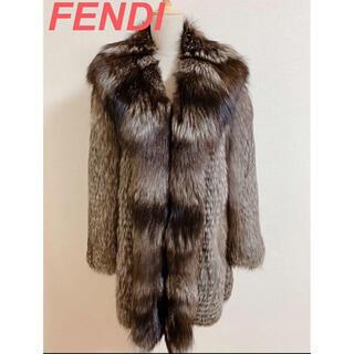 フェンディ(FENDI)のFENDI フェンディ  シルバーフォックス リアルファー 毛皮 コート(毛皮/ファーコート)