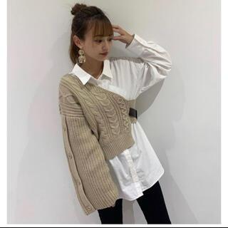MURUA - murua アシメニットレイヤードシャツ