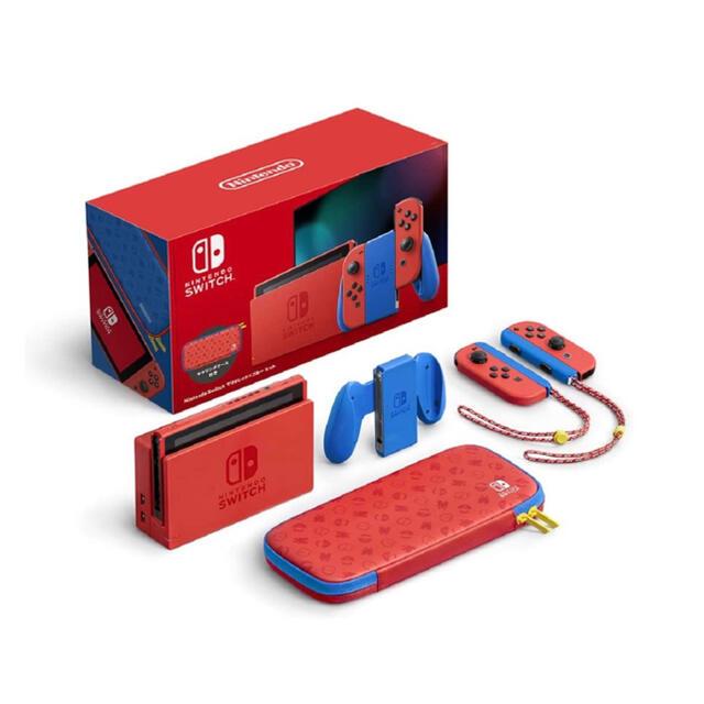 Nintendo Switch(ニンテンドースイッチ)の任天堂 Nintendo Switch マリオレッド×ブルー セット  エンタメ/ホビーのゲームソフト/ゲーム機本体(家庭用ゲーム機本体)の商品写真