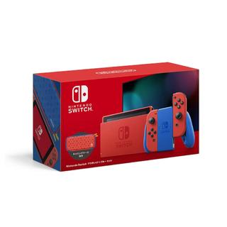 ニンテンドースイッチ(Nintendo Switch)の任天堂 Nintendo Switch マリオレッド×ブルー セット (家庭用ゲーム機本体)