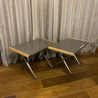ユニフレーム(UNIFLAME)のユニフレーム UNIFLAME 焚き火テーブル 2台セット(テーブル/チェア)