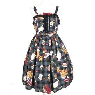 アンジェリックプリティー(Angelic Pretty)の夢みるプレゼント柄ジャンパースカート(ひざ丈スカート)