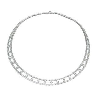 ダミアーニ(Damiani)のダミアーニ  ハーフダイヤ ネックレス   ダイヤモンド K18ホ(ブレスレット)
