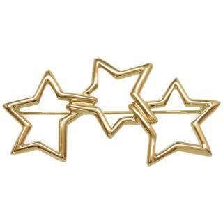 ティファニー(Tiffany & Co.)のティファニー  トリプルスター ブローチ   K18イエローゴール(ブローチ/コサージュ)