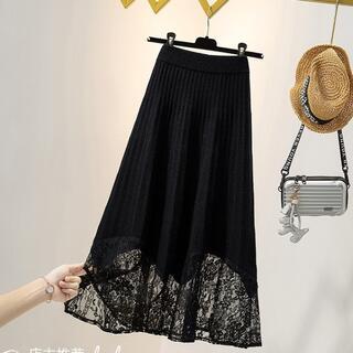 【大きいサイズ レディース】裾レース スカート (その他)