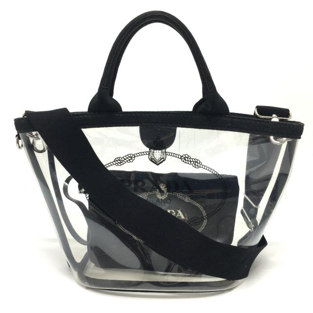 PRADA(プラダ)のプラダ プレックス カナパ ファブリック 2way 1BG187 クリアバッグ レディースのバッグ(トートバッグ)の商品写真
