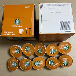 スターバックスコーヒー(Starbucks Coffee)のスターバックス キャラメルマキアート ネスカフェ ドルチェ グスト 11杯分(コーヒー)