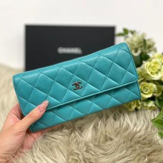 CHANEL - 美品 シャネル ラムスキン マトラッセ 長財布
