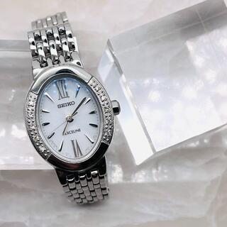 セイコー(SEIKO)の★SEIKO★ EXCELINE エクセリーヌ ベゼルダイヤ 腕時計(腕時計)