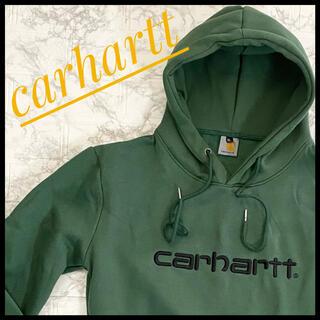 carhartt - CARHARTT  カーハート プルオーバーパーカー グリーン 緑