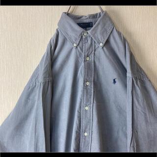 Ralph Lauren - ラルフローレン BDシャツ 長袖 グレー コーデュロイ オーバーサイズ 90s