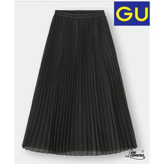 ジーユー(GU)のオーガンジープリーツスカート(ロングスカート)