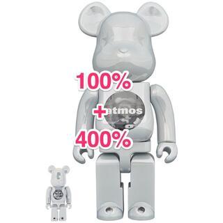 MEDICOM TOY - 新品 未開封 BE@RBRICK atmos WHITE CHROME 400%