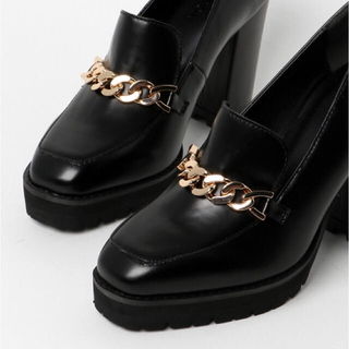 moussy - moussy BLOCK HEEL LOAFER PUMPS