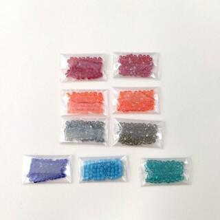 キワセイサクジョ(貴和製作所)のチェコビーズ FP 2mm ファイアポリッシュ 2ミリ 9色×50粒セット  (各種パーツ)