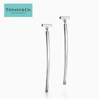 Tiffany & Co. - ティファニー T ワイヤーバーピアス シルバー