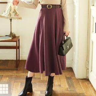 GRL - GRL ベルト付きスエードフレアスカート