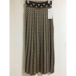 mame - 新品未使用★20AW mame Pleated Knitted Skirt